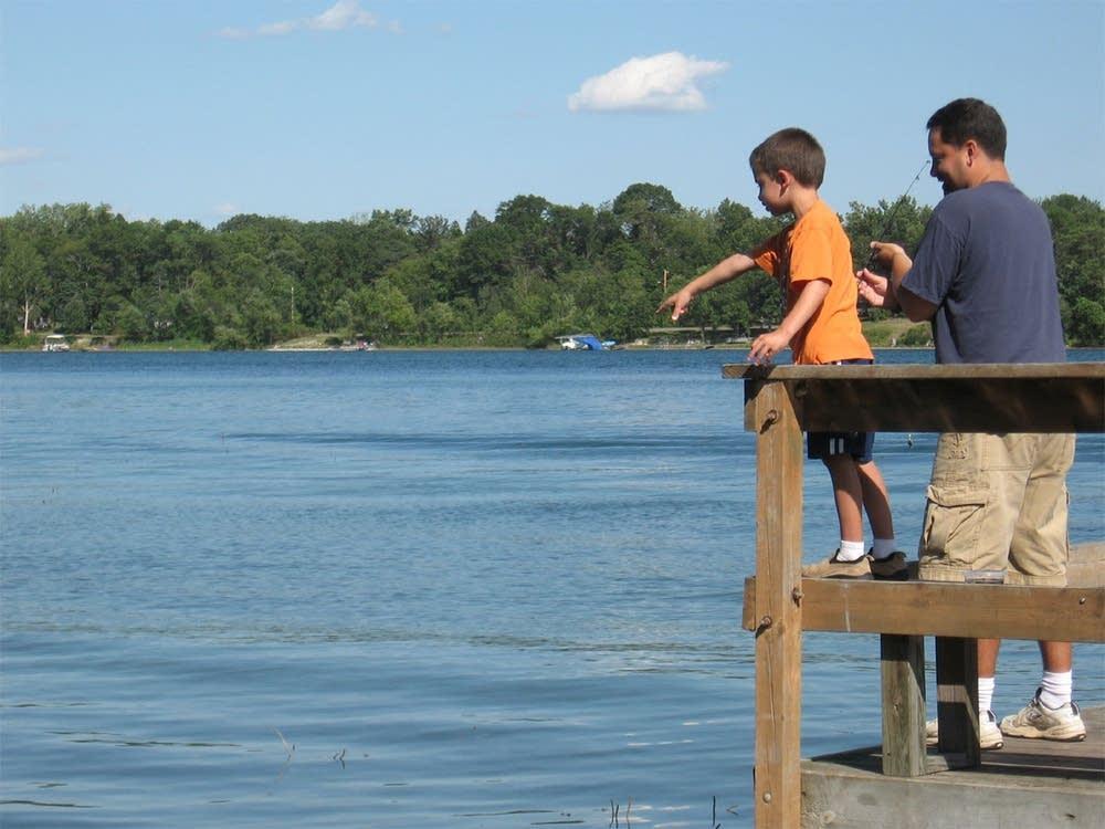 Fishing at Lake Elmo
