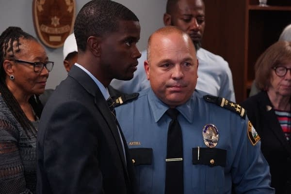 St. Paul Mayor Melvin Carter and Police Chief Todd Axtell