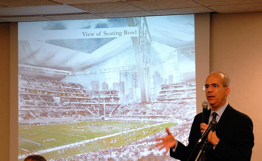 Vikings cool to proposed stadium plan minnesota public for Tim bryan architect
