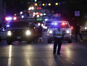 Emergency vehicles near the site of an explosion in Austin, Texas.