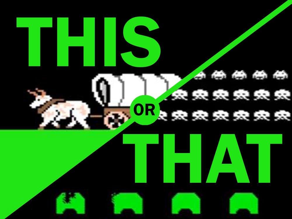 vote oregon trail vs space invaders mpr news