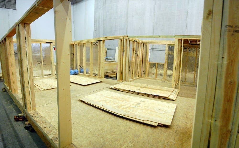 Solar house frame
