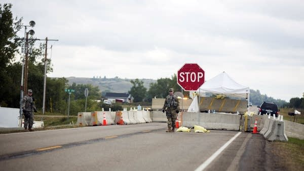 N.D. National Guard control pipeline site access.