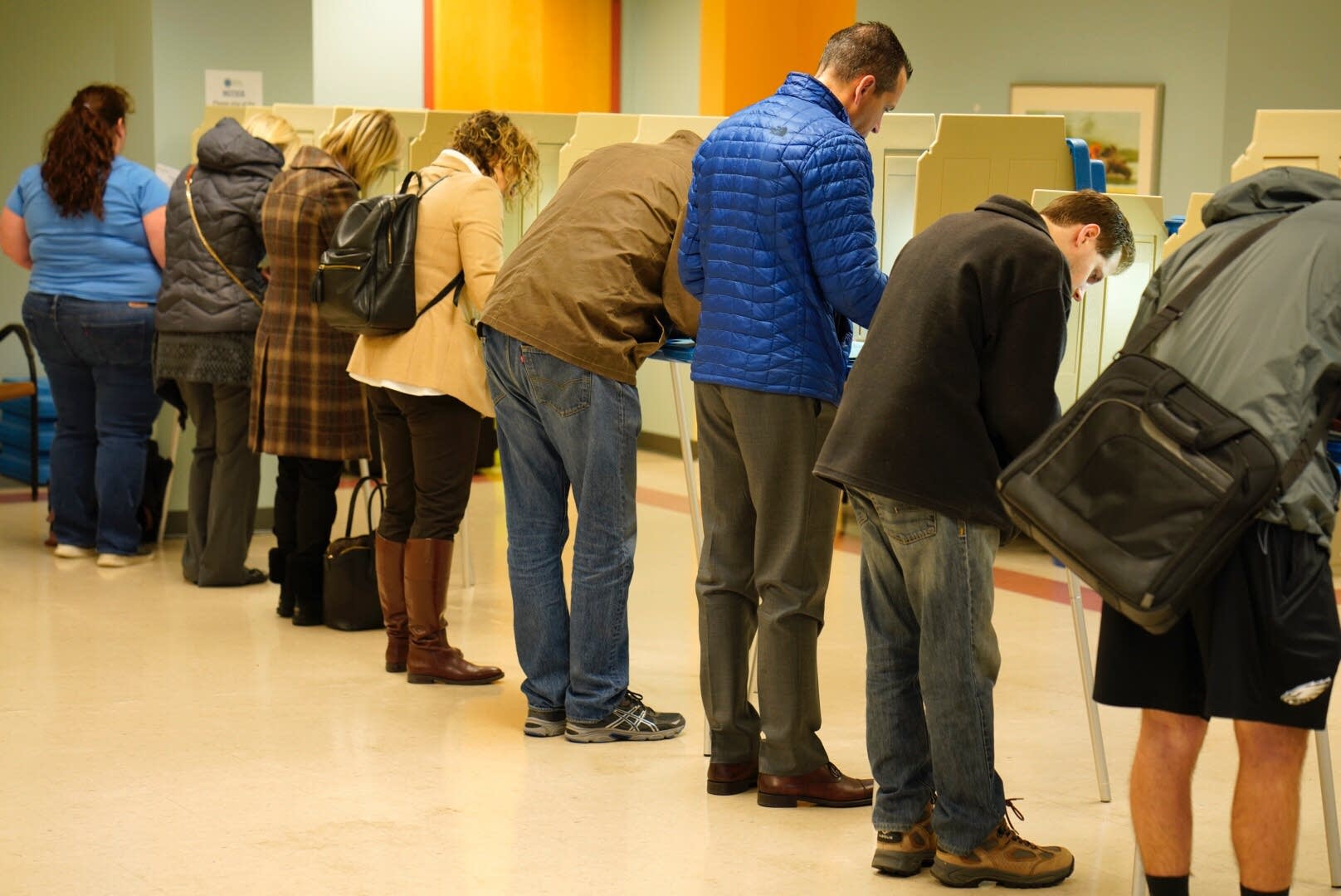 People vote at the Edina Senior Center.