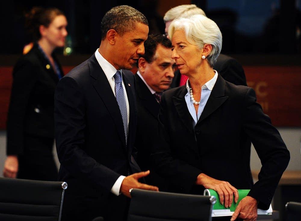 Barack Obama, Christine Lagarde