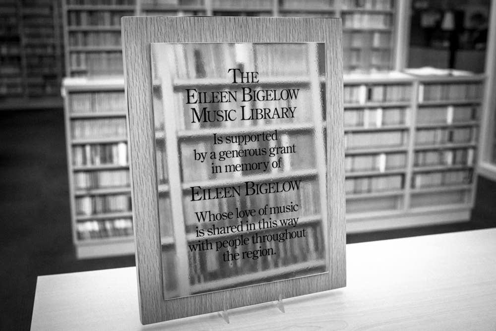 Music library plaque