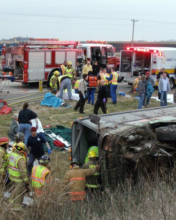 Officials won't confirm driver's health was cause of bus crash | MPR