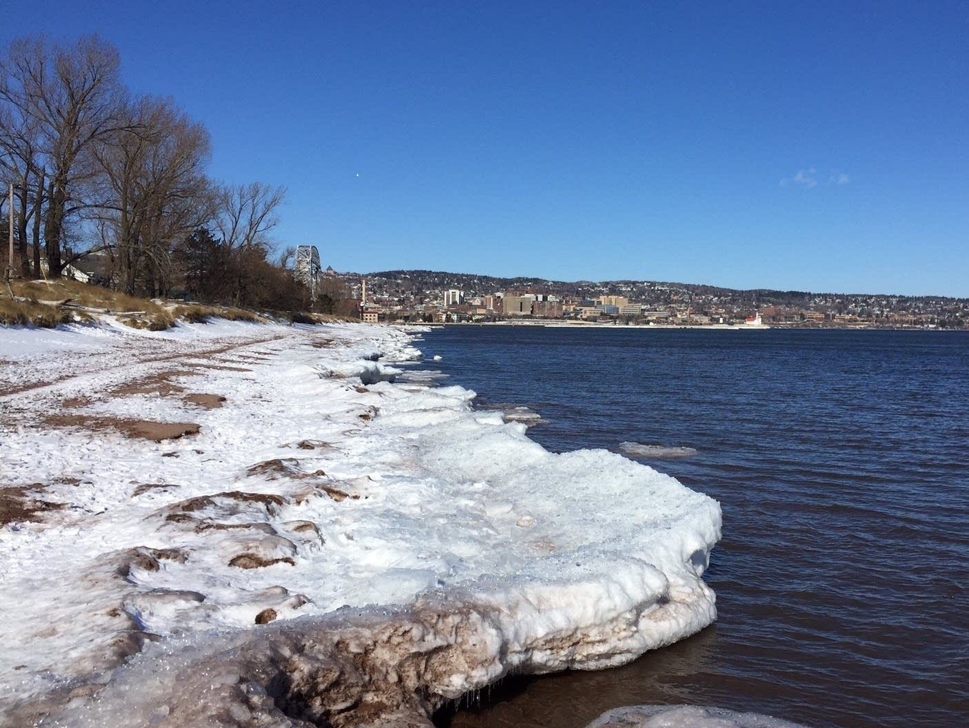 Two people fall through ice on Lake Superior Saturday