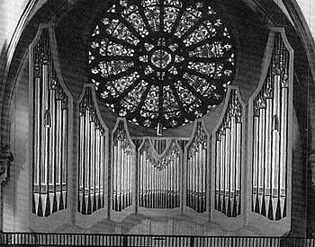 1990 Göckel organ at Heilig-Geist-Kirche, Mannheim, Germany