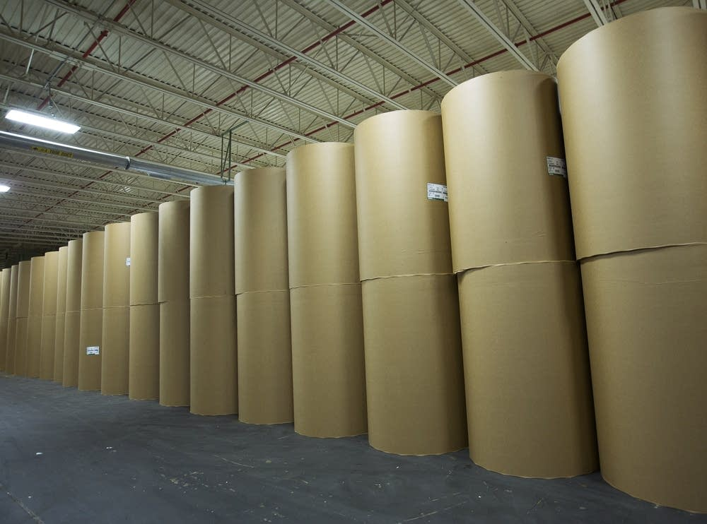 Paper rolls at the Boise mill