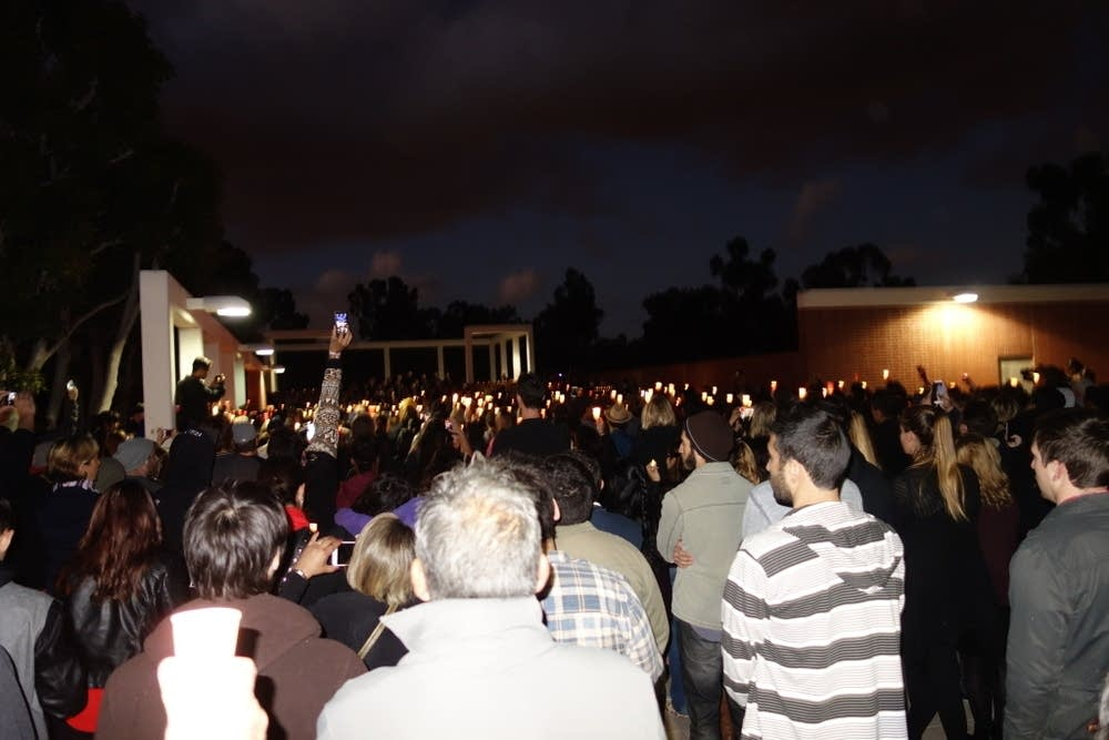 Vigil for Nohemi Gonzalez at Cal State Long Beach