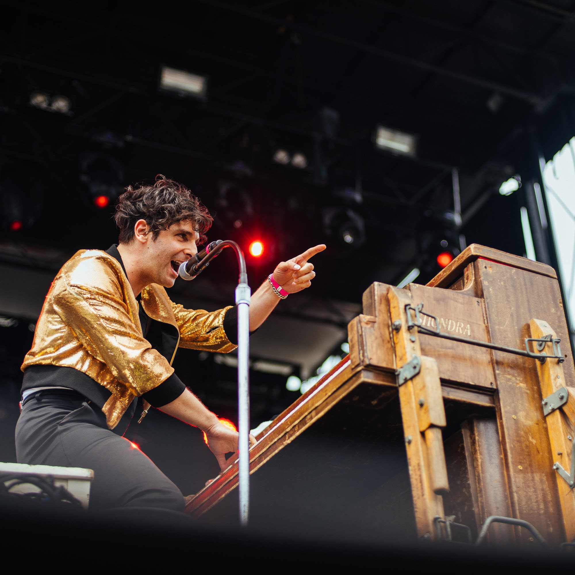 Adam Weiner of Low Cut Connie at Rock the Garden 2018.