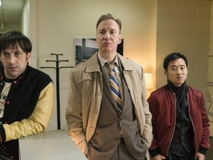 Goran Bogdan as Yuri Gurka, David Thewlis as V.M. Vargas, Andy Yu as Meemo