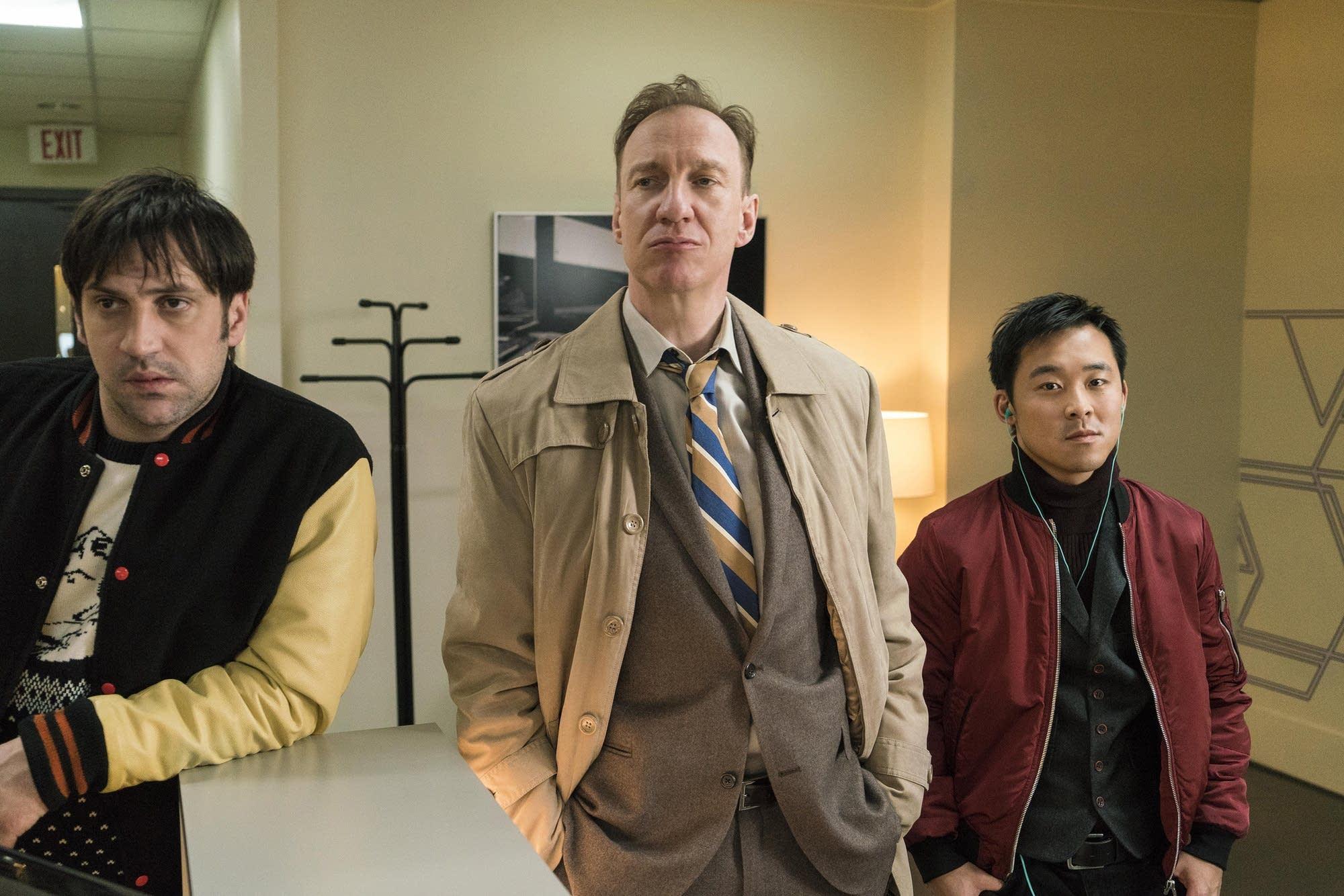 Goran Bogdan as Yuri Gurka, David Thewlis as V.M. Vargas, Andy Yu as Meemo