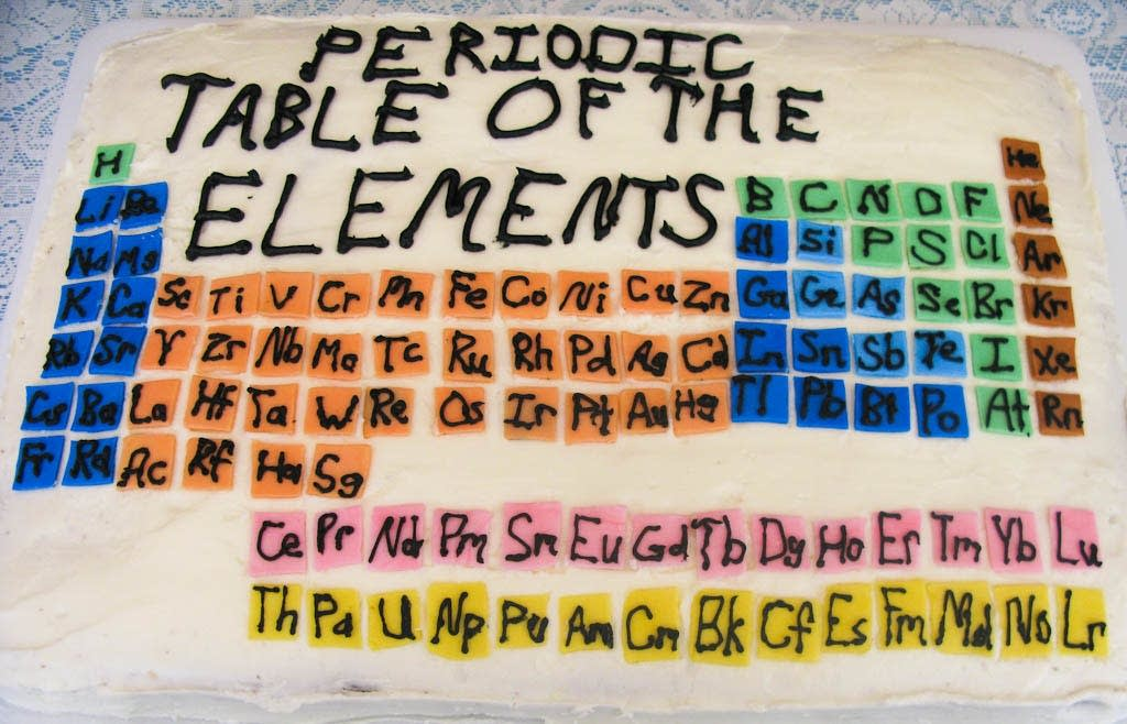 Periodic Table of the Elements birthday cake