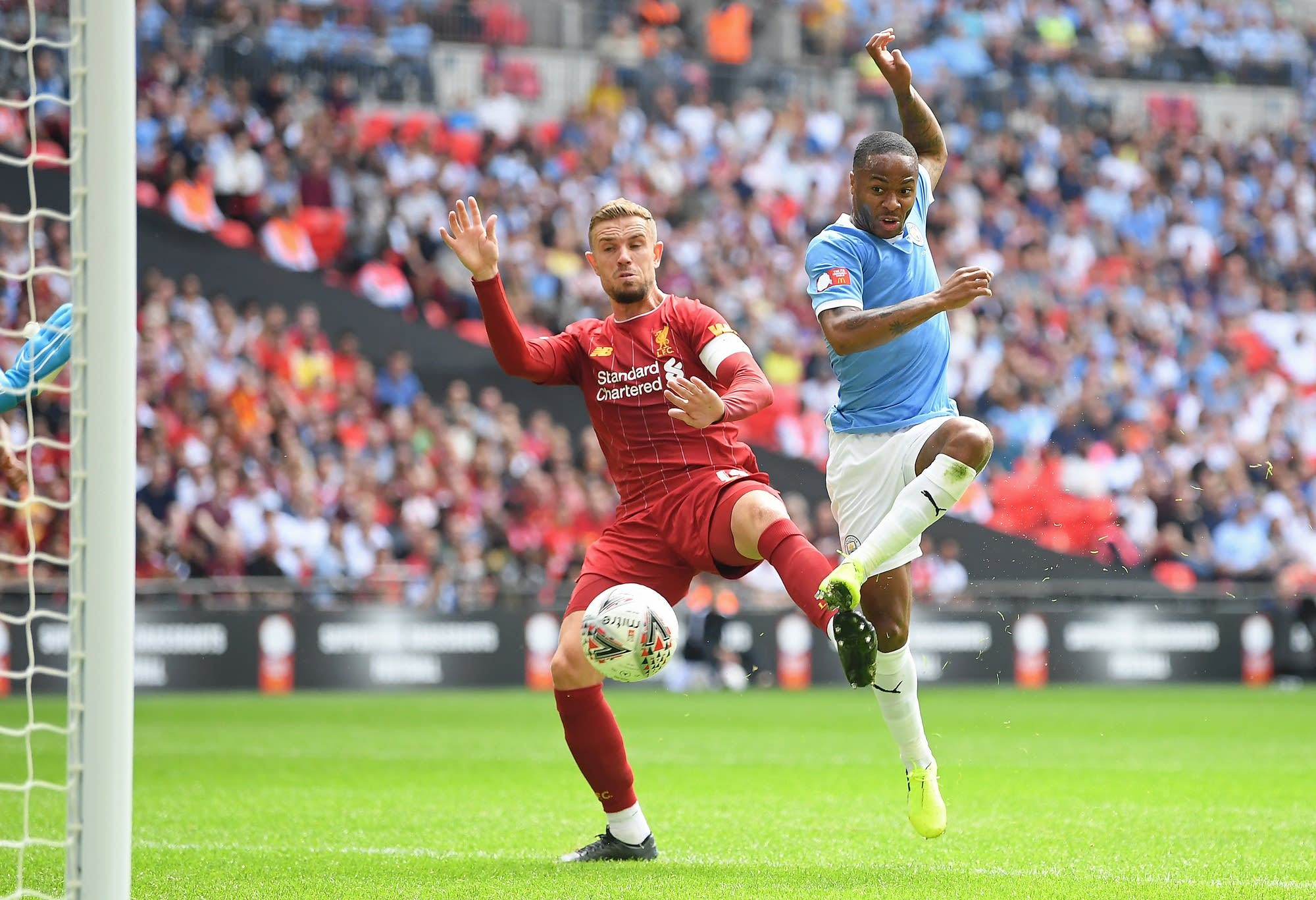 Liverpool v Manchester City in the FA Community Shield match