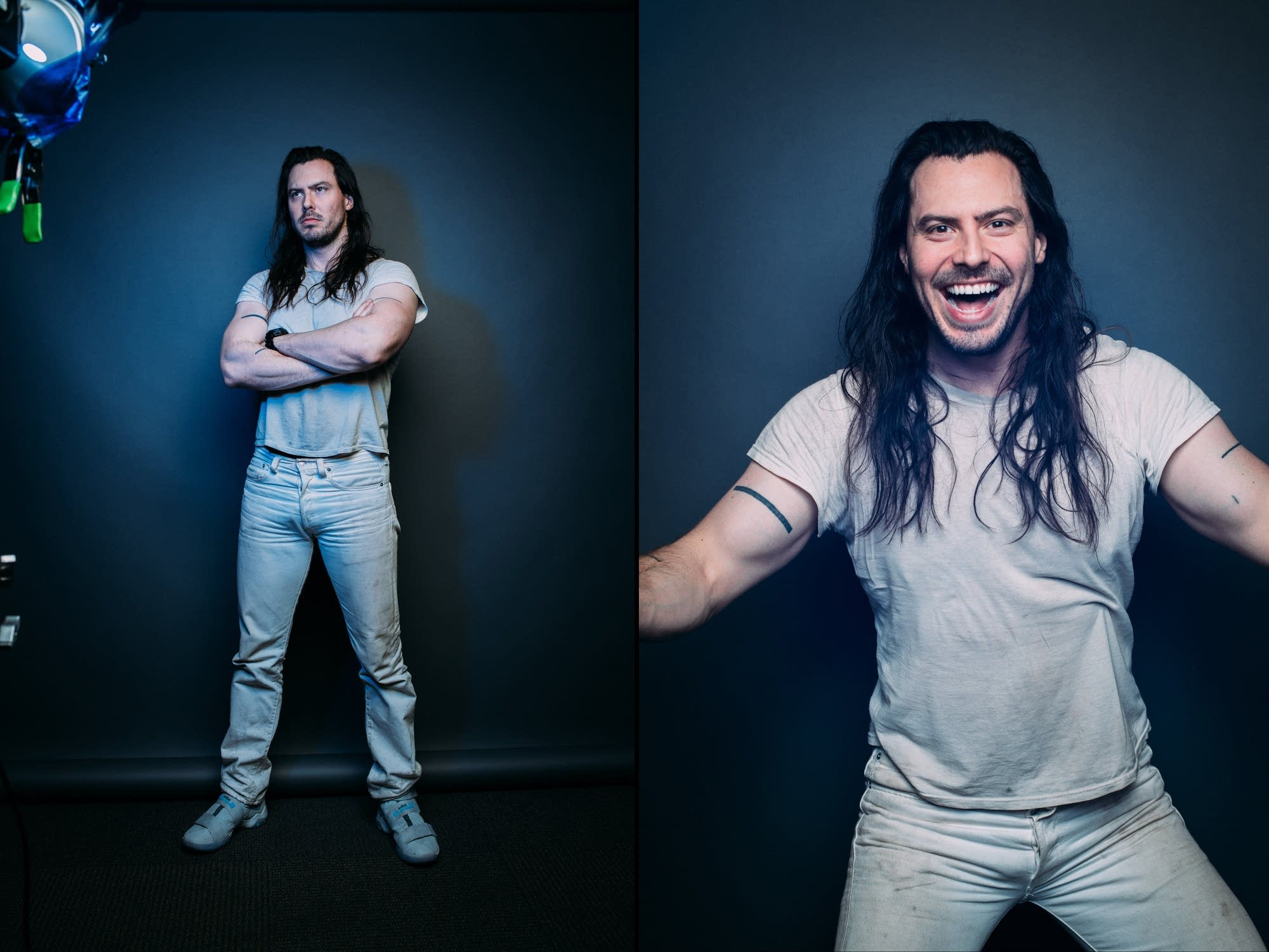 Andrew W.K. at The Current's studios