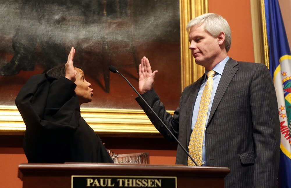 Thissen sworn in