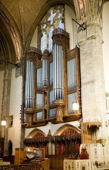 1928 Skinner; 2008 Schantz organ at Rockefeller Chapel, University of Chicago, Chicago, IL