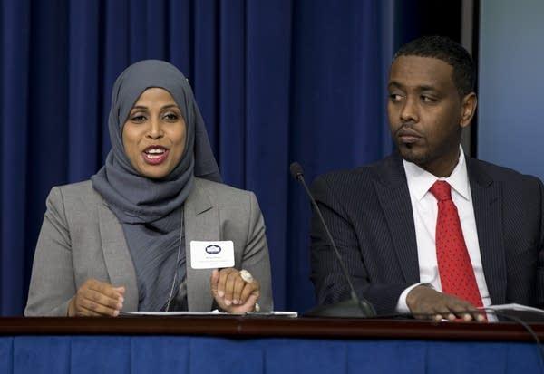 Hodan Hassan and Abdi Warsame