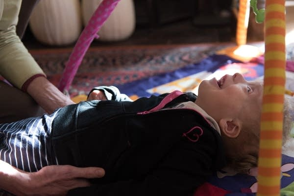 Four-year-old Lizzie Gold got a massage.