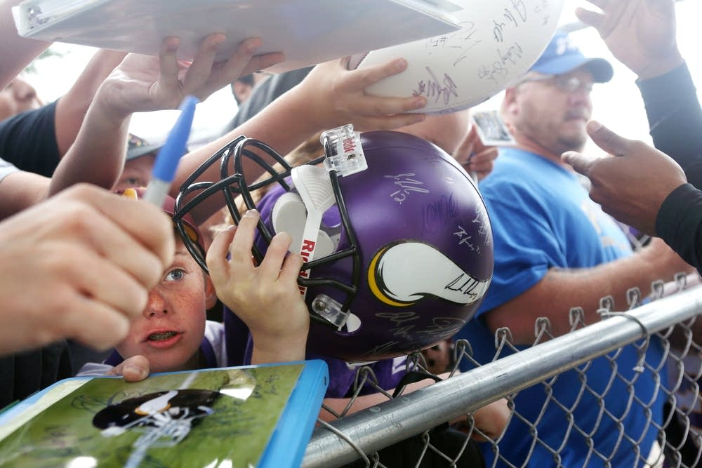 Vikings' first day of football training camp