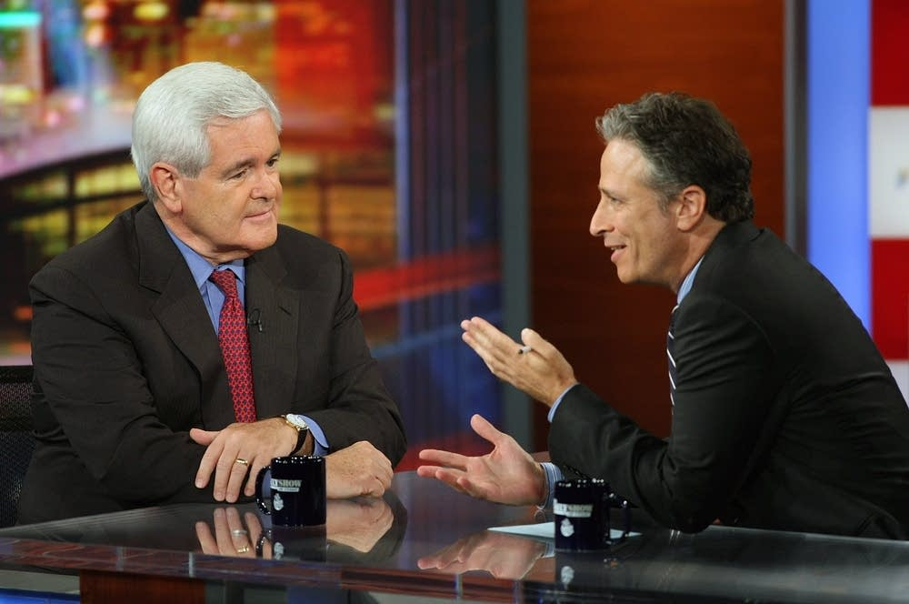 Jon Stewart and Newt Gingrich