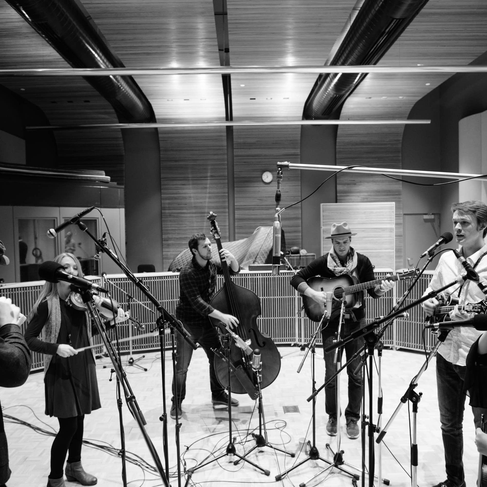 The O'Connor Band in studio