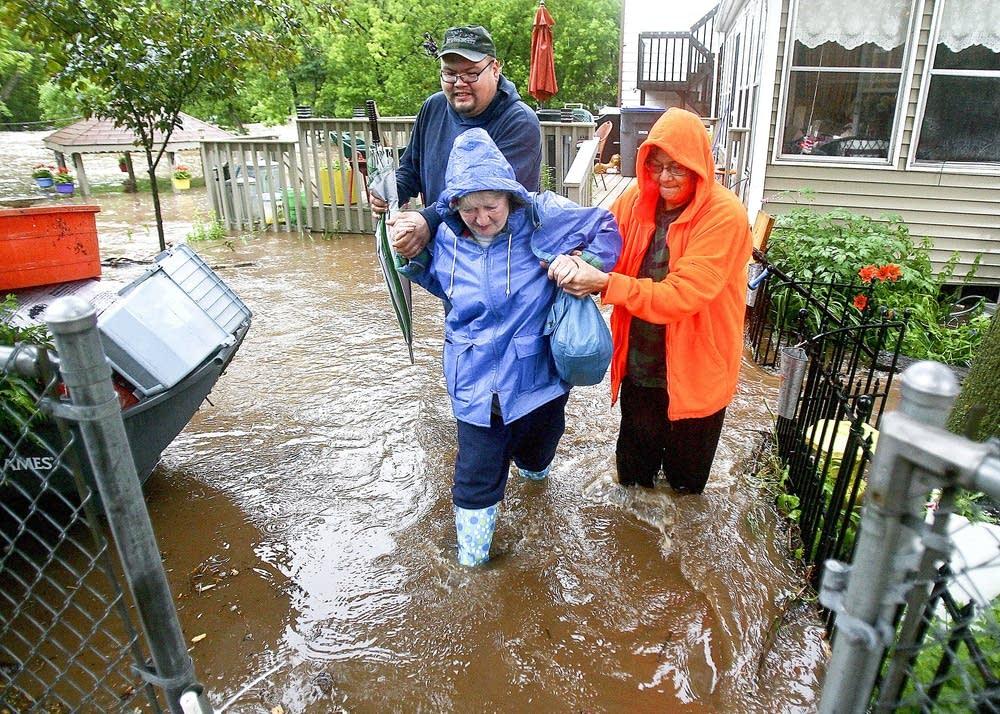 Helping through water