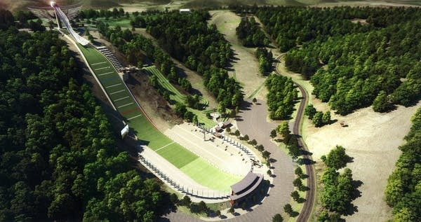 Rendering of the proposed Olympic ski jump