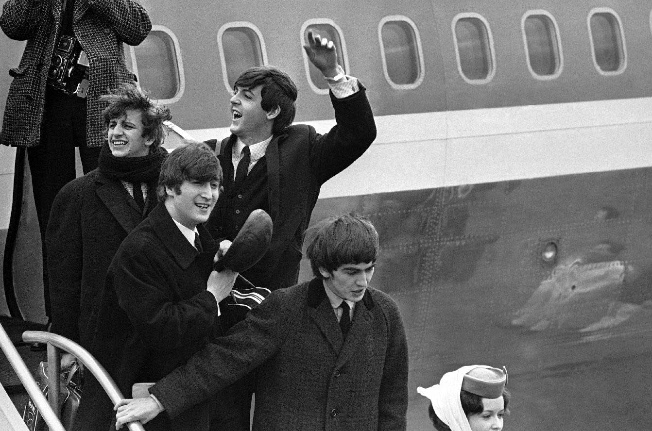 Beatles arrive at JFK