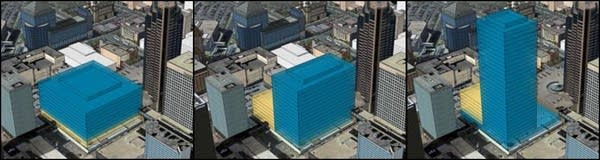Early site visions included an office tower.
