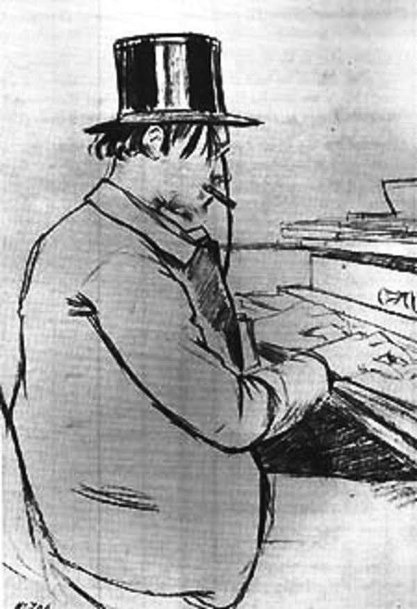 Caricature of Satie
