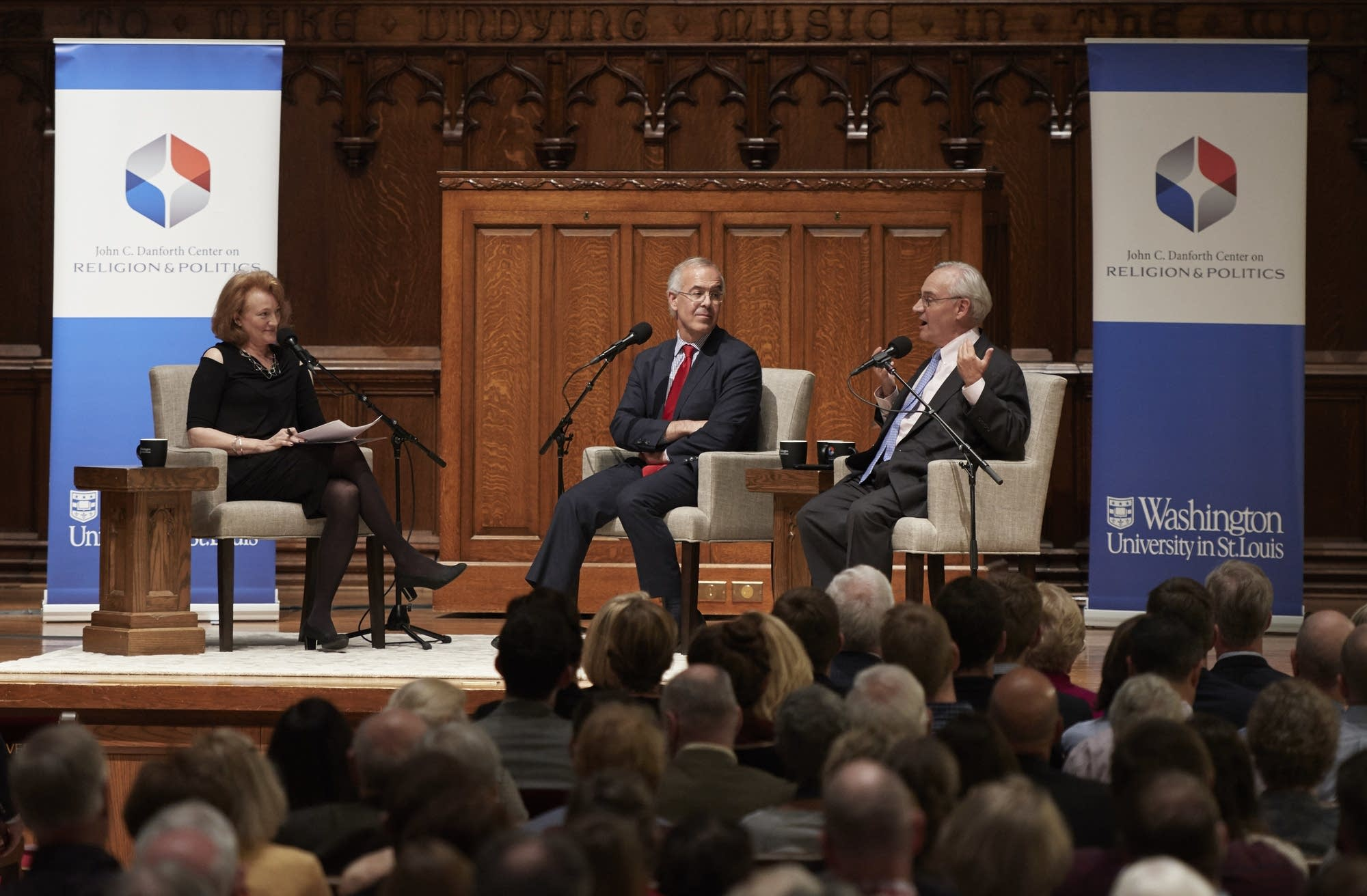 Krista Tippett, E.J. Dionne and David Brooks