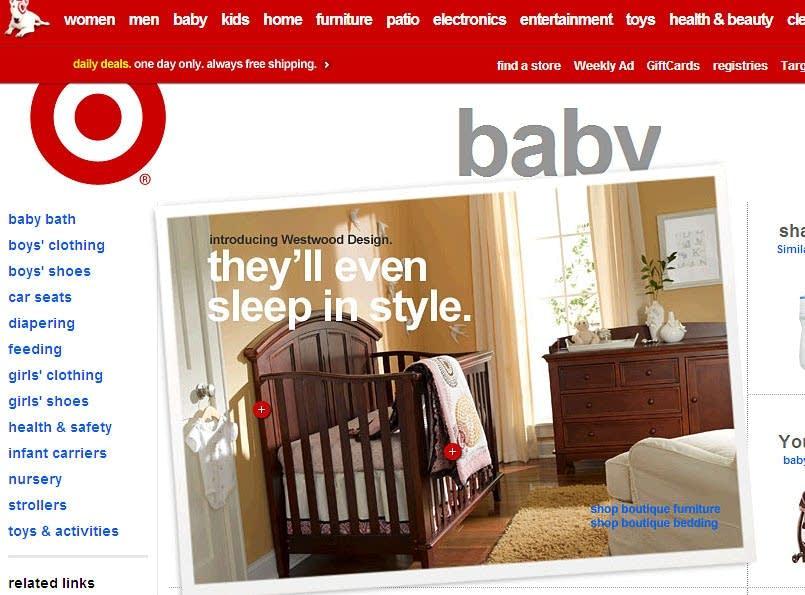 Target online shopping