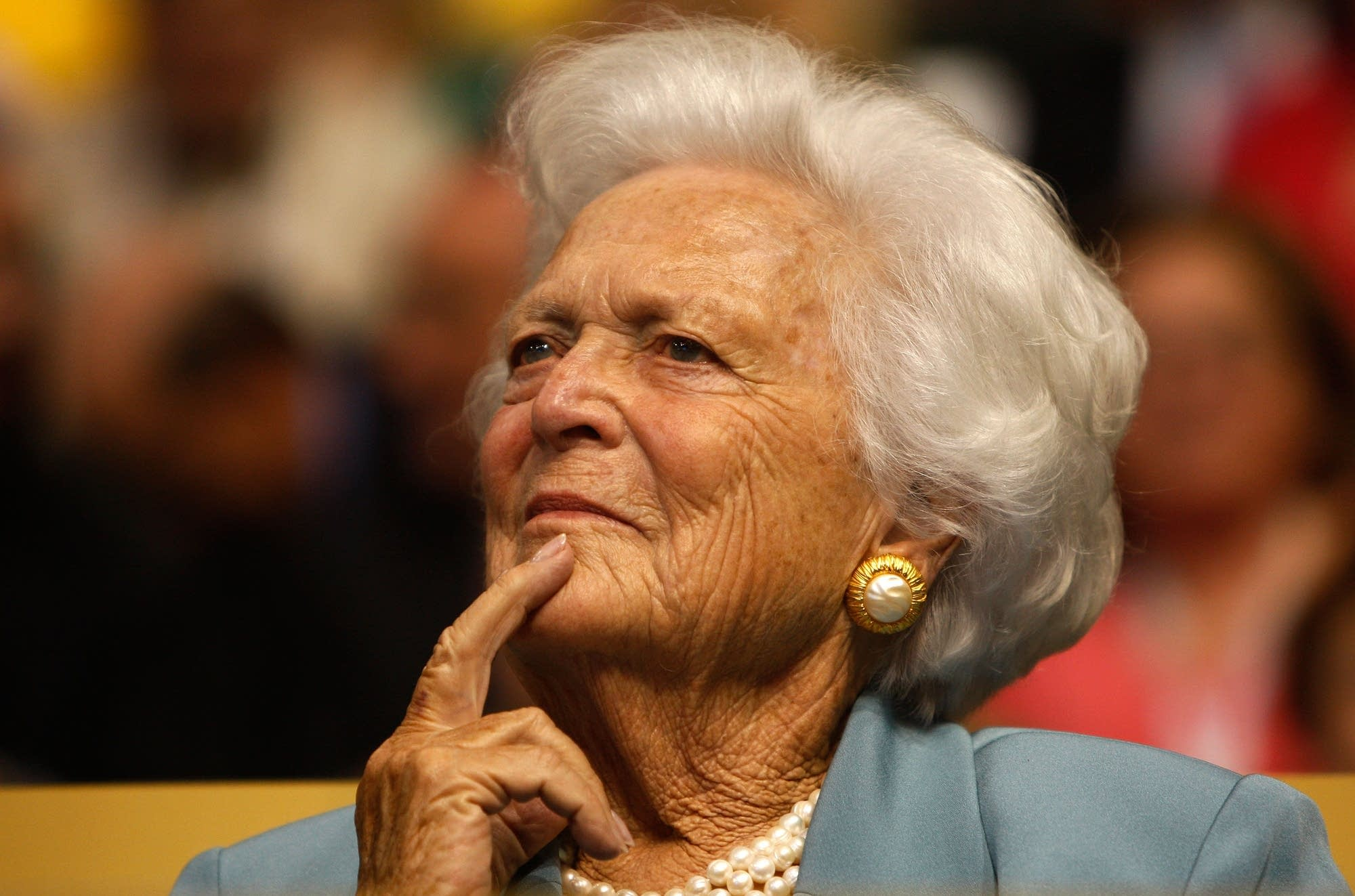 Former first lady Barbara Bush attends day two of the RNC.
