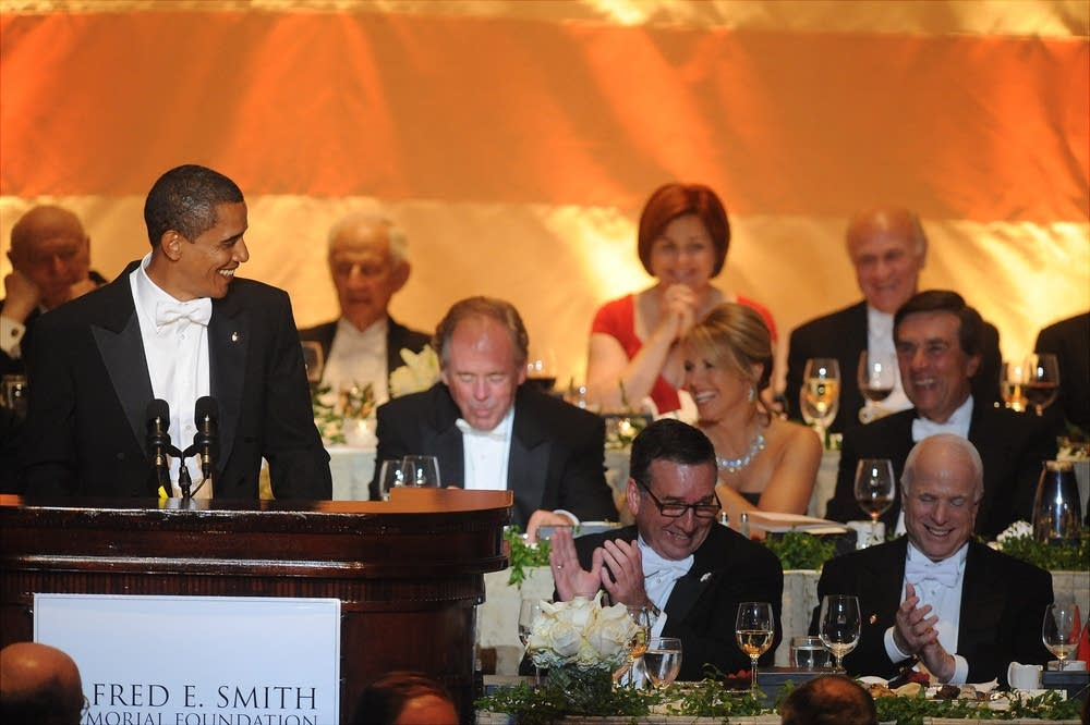 Presidential candidates at the Alfred Smith dinner