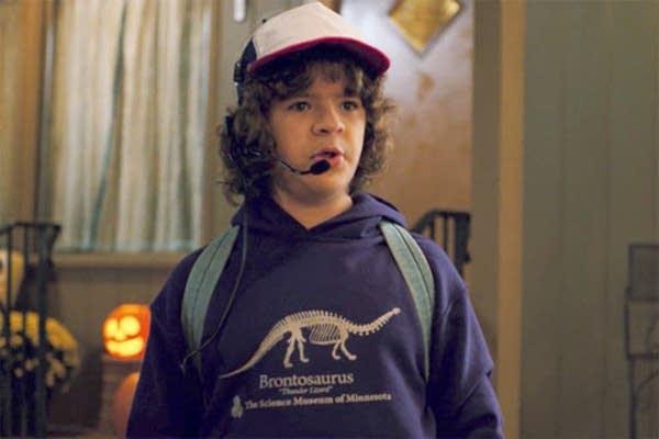 Dustin wears the vintage Science Museum hoodie