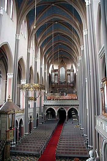 1982 Oberlinger organ at Marktkirche [Market Church], Wiesbaden, Germany