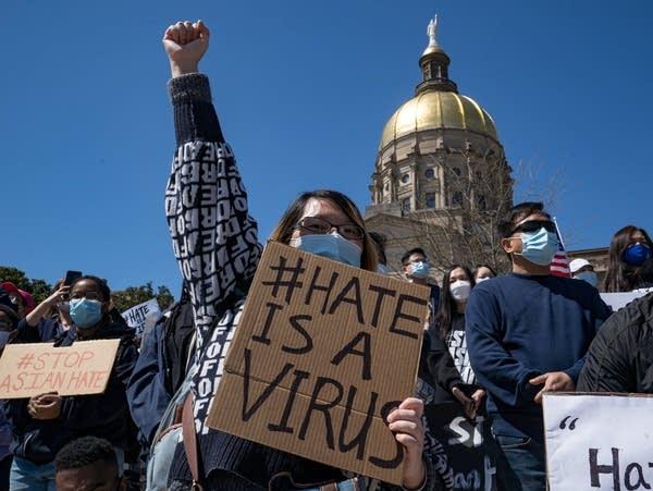 Demonstrators take to the streets of Atlanta