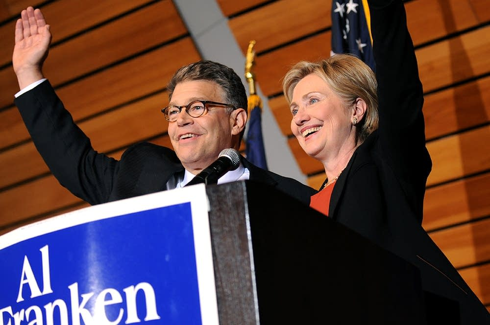 Hillary Clinton campaigning for Al Franken