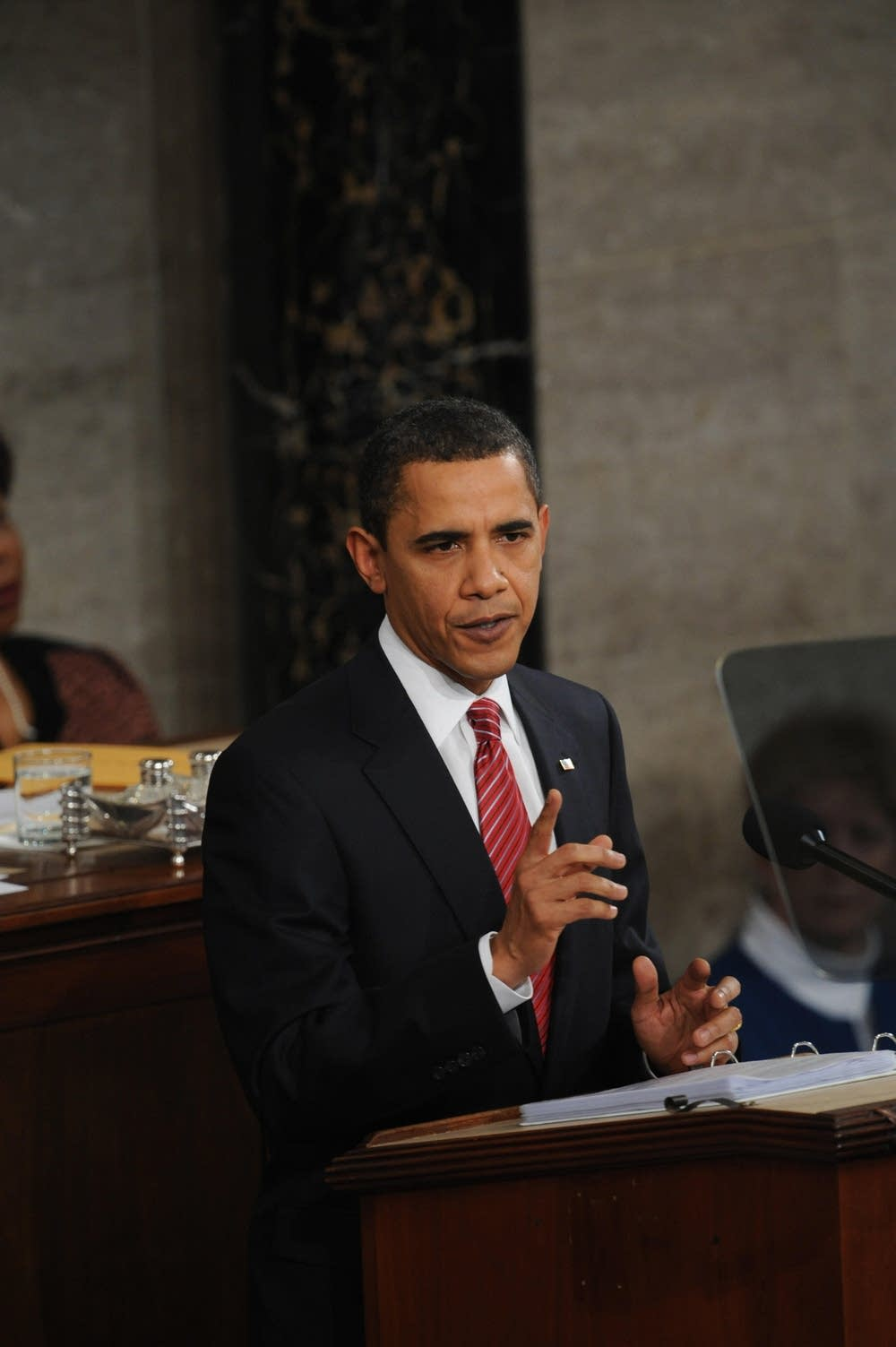 U.S. President Barack Obama speaks to the nation