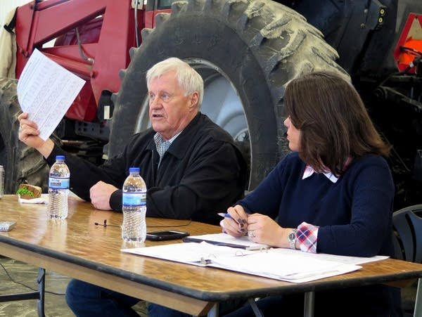 Peterson, Craig talk farm issues in Red Wing, Minn  | MPR News