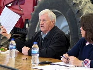 U.S. Rep. Collin Peterson, D-Minn., at a town hall meeting in Red Wing.