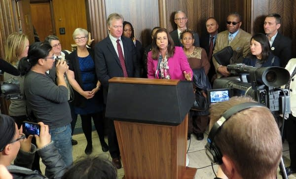 Press conference with Superintendent Silva