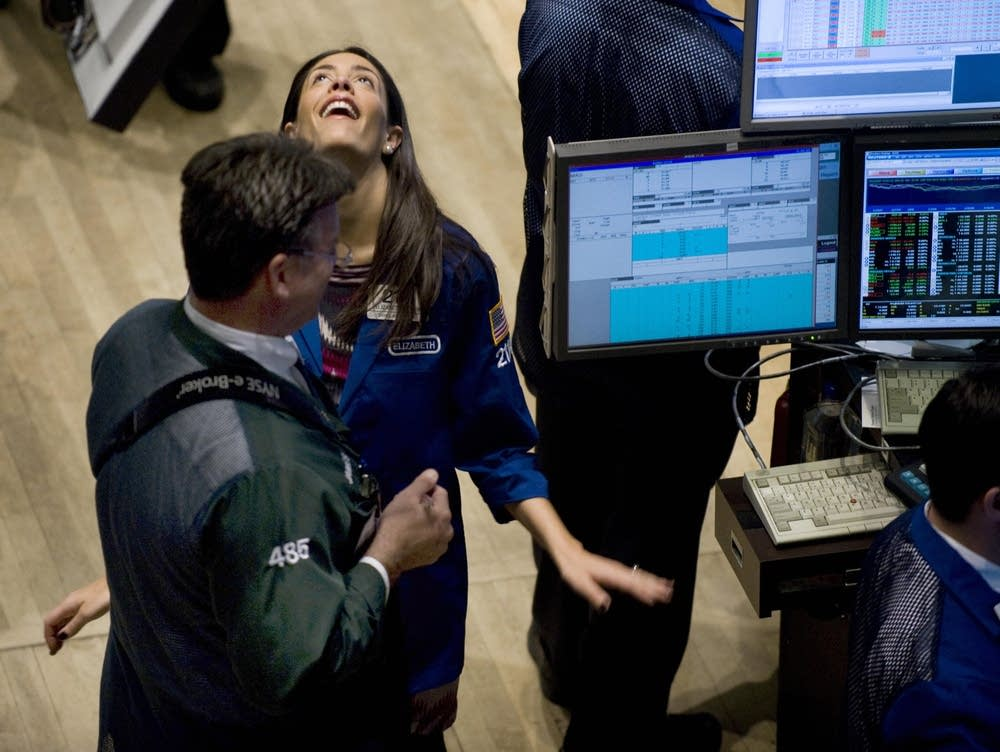 Stocks surge upwards