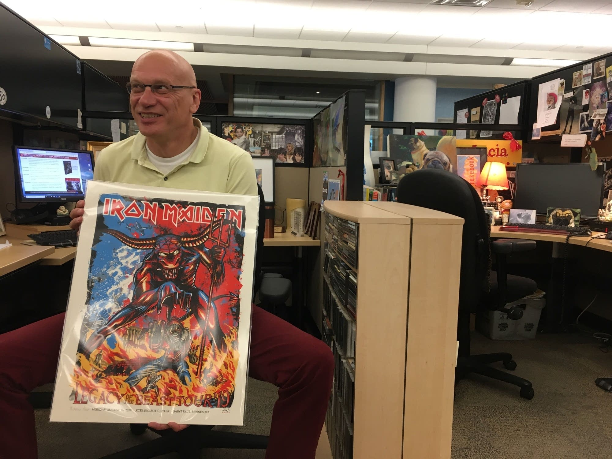 Enter for a chance to win an Adam Turman custom Iron Maiden poster