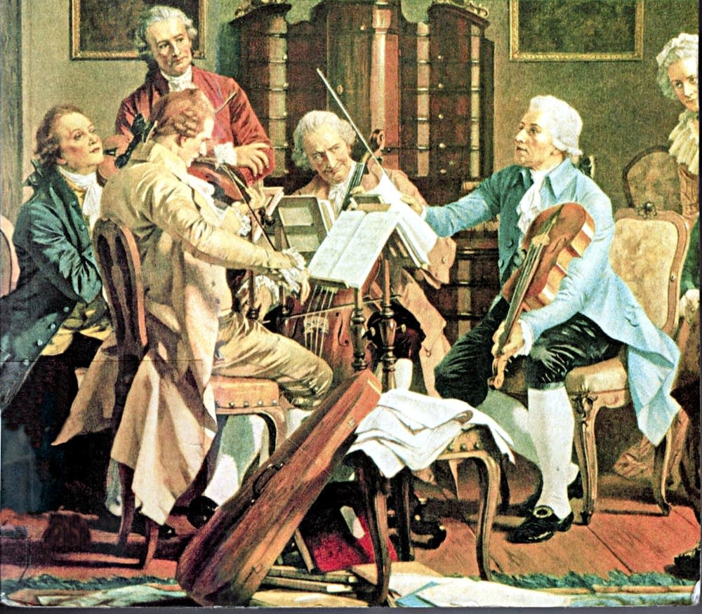 haydn playing quartets