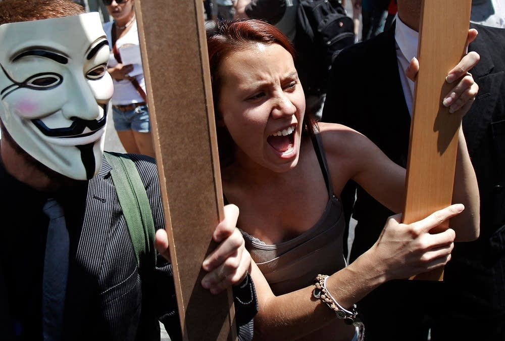 Austerity protest in Spain