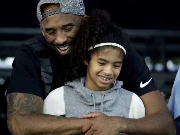 Former Los Angeles Laker Kobe Bryant and his daughter Gianna